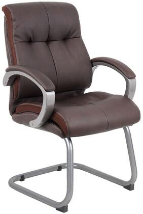 "Boss B8779 40"" Double Plush Executive Guest Chair with Cantilever Base and Mesh Side Panels"