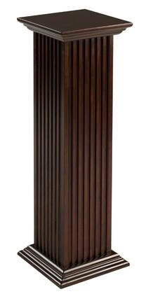 Cooper Classics 4XX Square Fluted Pedestal in Cherry Finish