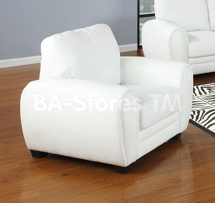 Acme Furniture 15197 Amber Series Faux Leather with Wood Frame in White
