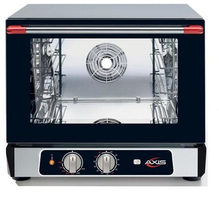 """Axis AX513RHx 24"""" Countertop Convection Oven with 2.02 cu. ft. Capacity, Timer, and Double-wall Glass Door, and ETL Sanitation Listed, in Black"""