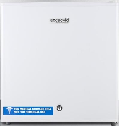 "AccuCold FS24L7x 19"" Medical, Commercially Approved Compact Freezer with 1.4 cu. ft. Capacity, Factory Installed Lock, Adjustable Thermostat and Manual Defrost, in White with"