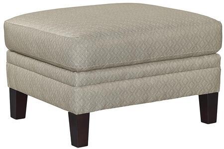 "Bassett Furniture Drake Collection 3923-01FC/FC155-X 29"" Ottoman with Top Stitch, Box Seat Cushions, Sharp Base Border"