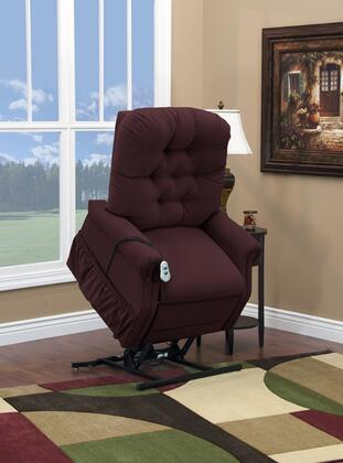 MedLift 1555PAABE Contemporary Fabric Wood Frame  Recliners