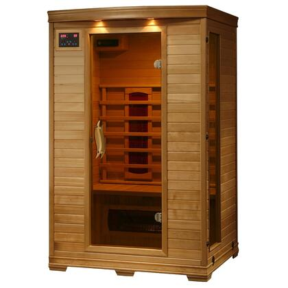 HeatWave SA24 Coronado 2 Person x Sauna with Interior Reading Lights and Built-in Sound Systems