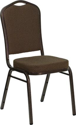 """Flash Furniture HERCULES Series FD-C01-COPPER-XX-GG 18.25"""" Crown Back Stacking Banquet Chair with Patterned Fabric, 2.5"""" Thick Seat, Copper Vein Frame, 16 Gauge Steel Frame, Non-Marring Plastic Floor Glides"""