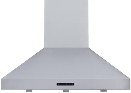 Windster RA76XXSS Island Hood Stainless Steel 8~9.5 ft Ceiling Duct Cover Included.