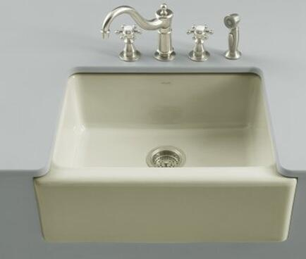 Kohler K-6573-5U- Single Basin Fireclay Kitchen Sink from the Alcott Series: