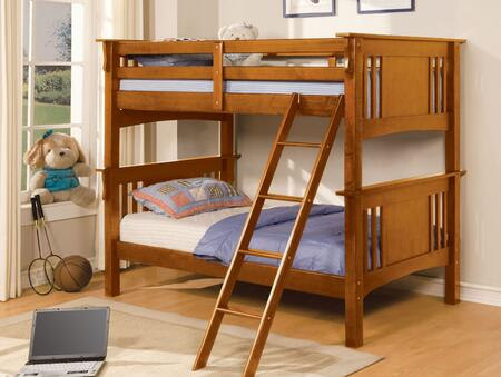 Furniture of America CMBK602TOAKBED Spring Creek Series  Twin Size Bed