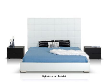 VIG Furniture VGJYFRANCIS Modrest Francis - Modern White Eco-Leather Bed