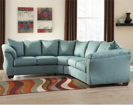 Flash Furniture FSD1109SECSKYGG Darcy Series Stationary Microfiber Sofa