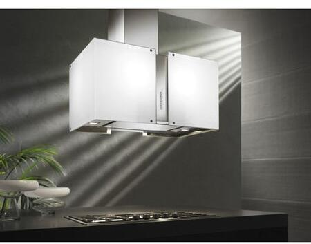 Futuro Futuro WLXMURFROST Murano Frost Series Range Hood with 940 CFM, 4-Speed Electronic Controls, Delayed Shut-Off, Filter Cleaning Reminder, Internal Whisper-Quiet Tangential Blower, and in White
