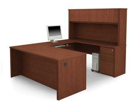 Bestar Furniture 99878 Prestige + U-shaped workstation including assembled pedestals