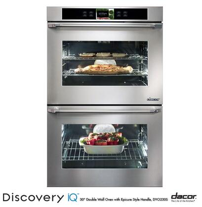 "Dacor DYO230 30"" 4.8 cu. ft. Double Wall Oven with Electronic Control Panel, GreenClean Technology, 10 Cooking Modes, 7 Rack Positions and Hidden Bake Element:"