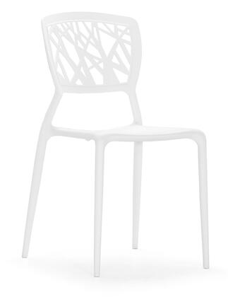 Zuo 100330 Divinity Series Modern Polypropylene Frame Dining Room Chair