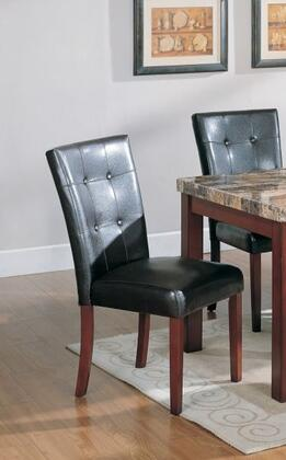 Meridian 720C 720 Series Contemporary Bycast Leather Wood Frame Dining Room Chair