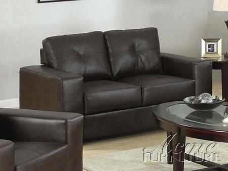 Acme Furniture 15331 Crystal Series Sofa Bonded Leather Sofa