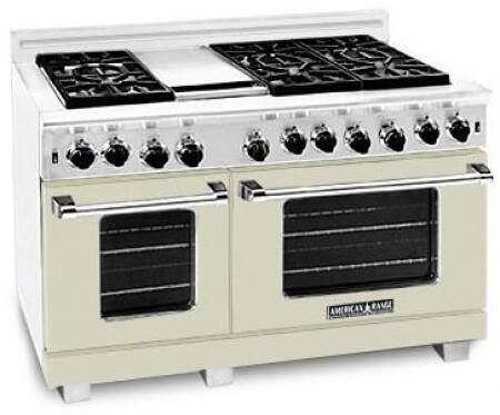 American Range ARR486GDLBG Heritage Classic Series Dual Fuel Freestanding Range with Sealed Burner Cooktop, 4.8 cu. ft. Primary Oven Capacity, in Beige