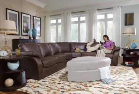 Novo Home 20424PC Venice Series Stationary Leather Sofa