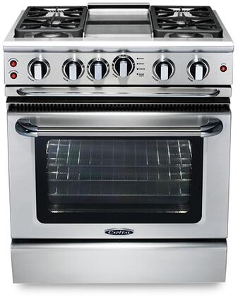 """Capital GSCR304GN 30"""" Precision Series Gas Freestanding Range with Sealed Burner Cooktop, 4.1 cu. ft. Primary Oven Capacity, in Stainless Steel"""