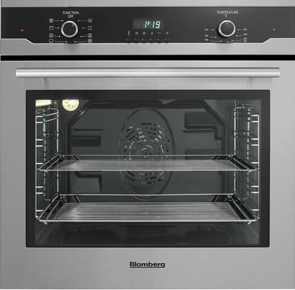 """Blomberg BWOS2402 24"""" Single Electric Wall Oven with 2.3 cu ft. Oven Capacity, True European Convection Oven, and 3 Pane Heat Resistant Glass In"""