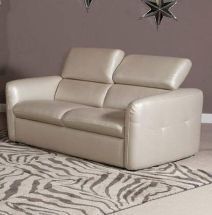 Novo Home 20152S Avante Series Leather Stationary with Wood Frame Loveseat