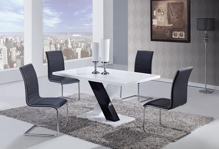 Global Furniture USA D490DTD490DCBL5PCSET Dining Room Tables