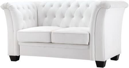 Glory Furniture G327L Faux Leather Stationary Loveseat