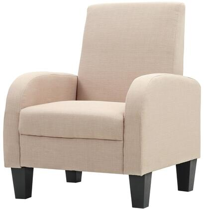 """Glory Furniture Newbury Collection 28"""" Occasional Club Chair with Padded Arms, Tapered Legs and Twill Fabric Upholstery in"""
