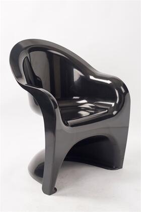 Fine Mod Imports FMI2209BLACK Armchair Not Upholstered ABS Frame Accent Chair