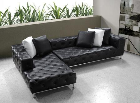 VIG Furniture VG2T0687  Sofa and Chaise Leather Sofa