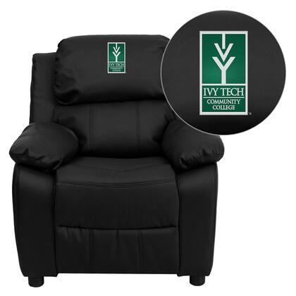 Flash Furniture BT7985KIDBKLEA41038EMBGG Childrens Bonded Leather Wood Frame  Recliners