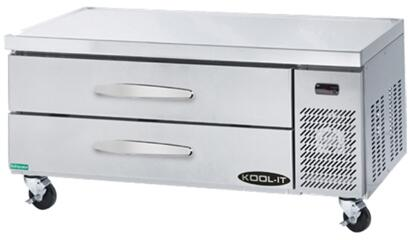 "Kool-It KCBX "" Refrigerated Chef Base with cu. ft. Capacity, Drawers, Full Size 4"" Pans, in Stainless Steel"