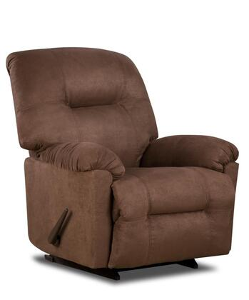 Chelsea Home Furniture 1893502550PWR Wyoming Series Transitional Bonded Leather Wood Frame  Recliners
