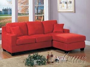 Acme Furniture 05917B Vogue Series Sofa and Chaise Microfiber Sofa