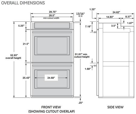 Double Wall Oven Installation Height Holiday Hours