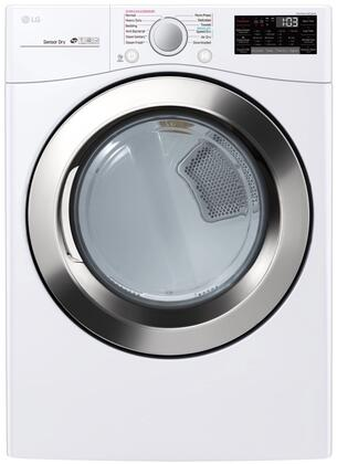LG DLEX3700W 27 Inch Electric Dryer with 7 4 cu  ft  Capacity