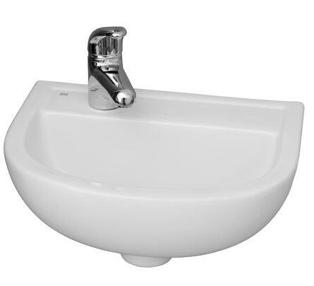"Barclay 4L531W 15"" Compact Wall Hung Basin with in White"