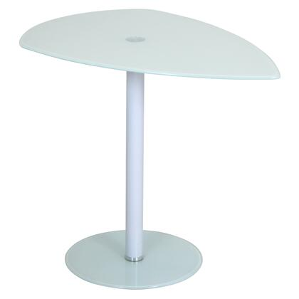 LumiSource Pix TB-NTPIX Nesting Tables with Curved Triangular Tempered Glass Top and Pedestal Base in