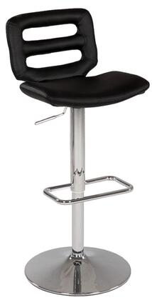 Chintaly 0629ASBLK Residential Bonded Leather Upholstered Bar Stool
