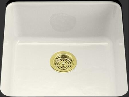 Kohler K-6587- Single Basin Cast Iron Kitchen Sink from the Iron Tones Series: