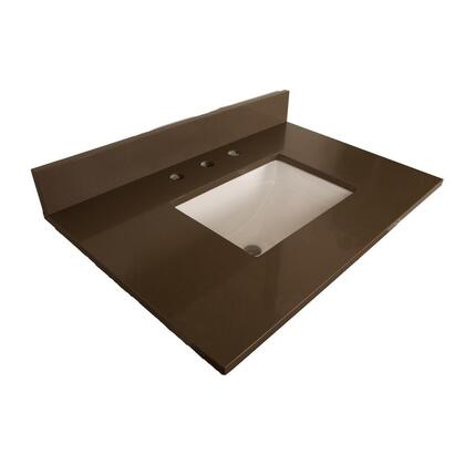 "Bellaterra Home 7615TOP 30"" Quartz Counter Top with Rectanglar Sink"
