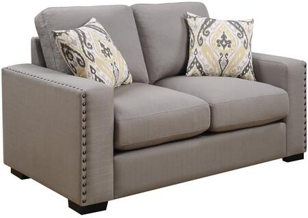 Donny Osmond Home 508042 Rosanna Series Fabric Stationary with Wood Frame Loveseat