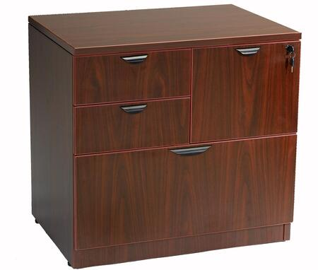 "Boss N114M 31"" Wood Traditional File Cabinet"