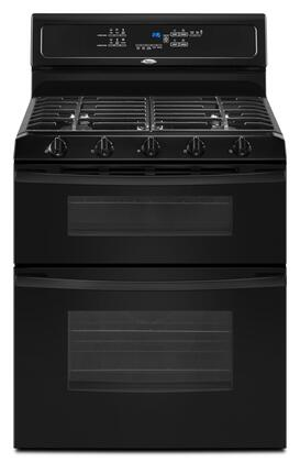 """Whirlpool GGG390LXB 30"""" Gold Series Gas Freestanding Range with Sealed Burner Cooktop, 3.9 cu. ft. Primary Oven Capacity, Oven in Black"""
