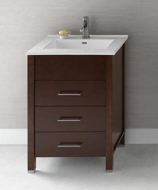 "Ronbow 030323- Kali 24"" Wood Vanity Cabinet with Three Drawers:"