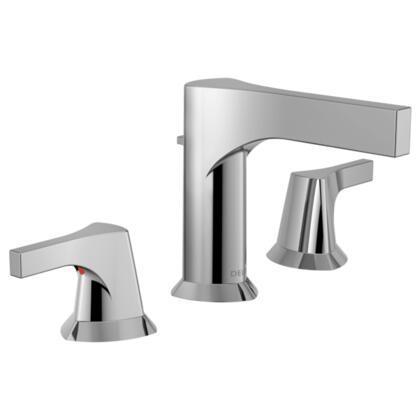 Zura  3574-MPU-DST Delta Zura: Two Handle Widespread Lavatory Faucet in Chrome