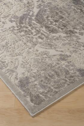 """Milo Italia Jagger RG448721TM """" x """" Size Rug with Abstract Floral Design, Machine-Tufted, 13mm Pile Height, Spot Clean Only, Polyester and Acrylic Blend Material in Cream Color"""