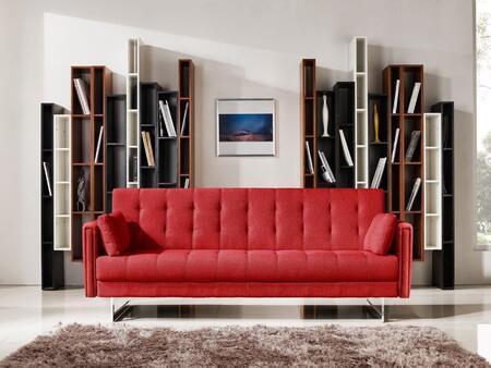 VIG Furniture VGMB1600RED Divani Casa Tejon Series Convertible Fabric Sofa