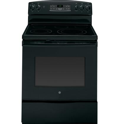 "GE JB690DFBB 30"" Electric Freestanding Range with Smoothtop Cooktop, 5.3 cu. ft. Primary Oven Capacity, Storage in Black"