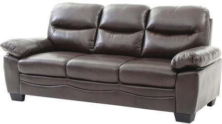 """Glory Furniture 78"""" Sofa with Removable Backs, Split Back Cushion, Pocket Coil Spring Seating, Tapered Legs, Plush Padded Arms and Soft Faux Leather Upholstery in"""